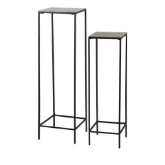 PILLAR DARK BROWN BRONZ     - CAFE, SIDETABLES