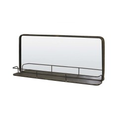 MIRROR WITH SHELF TIN BRONZE