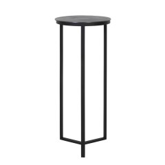 LA PILLAR RAW ANTIQUE LEAD     - CAFE, SIDETABLES