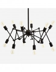 CEILING LAMP SPIDER BLACK