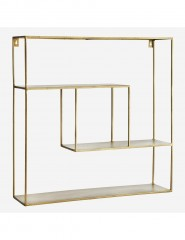 IRON SHELF SQUARE ANTIQ BRASS