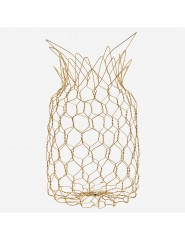 WIRE BASKET PINEAPPLE ANTIQ BRASS FINISH