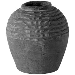 CERAMIC JAR EARTH WITH GROOVES