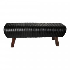 LEATHER BLACK GYM BENCH   - BENCHES