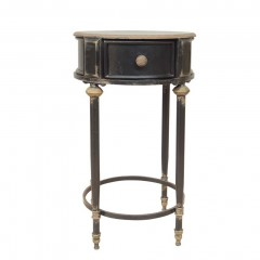 BLACK SIDE TABLE EDU WITH DRAWER     - CAFE, SIDETABLES