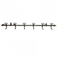 METAL WALL COAT RACK WITH LABEL
