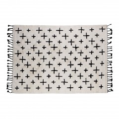 RUG CROSS COTTON OFFWHITE