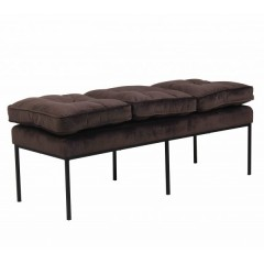 BENCH  BRUSSEL 3 SEATER BLACK