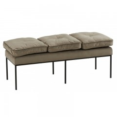 BENCH  BRUSSEL 3 SEATER GREY
