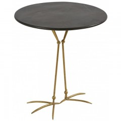 CAFETABLE BIRD GOLD LEG