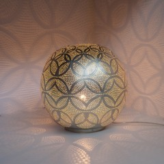 TABLE LAMP BALL CRC BRASS SILVER PLATED