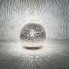 TABLE LAMP HARI SMALL SILVER     - TABLE LAMPS