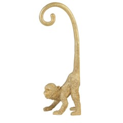 WALL DECO MONKEY GOLD 45