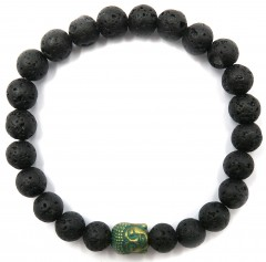BRACLET BLACK GREEN STONE