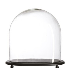 GLASS BELL WITH OVAL TRAY 30