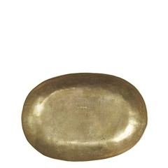 OVAL GOLD METAL TRAY 30