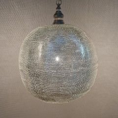 HANGING LAMP FLSK BRASS SILVER PLATED