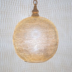 HANGING LAMP FLSK GOLD 30