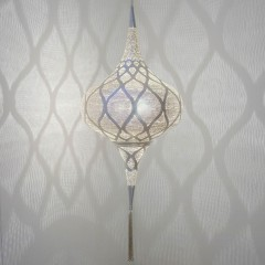 HANGING LAMP GRCM BRASS SILVER PLATED 80