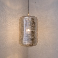 HANGING LAMP LMP FLSK BRASS SILVER PLATED 40