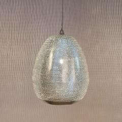 HANGING LAMP THR FLSK BRASS SILVER PLATED