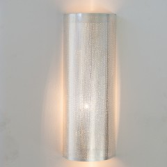 WALL LAMP FLSK BRASS SILVER PLATED 50   - WALL LAMPS