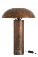 TABLE LAMP MUSHROOM IRON ANTIQUE BROWN 50