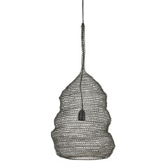 HANGING LAMP WIRE CROCHET BRONZ