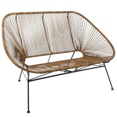BENCH MEXICO SYNTETIC RATTAN LOOK NATURAL INDOOR