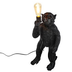FLOOR LAMP STANDING BLACK MONKEY