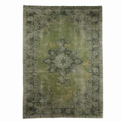 RUG GREEN PERSIAN PRINT POLY