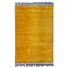 RUG VELVET TOUCH YELLOW VISCOSE
