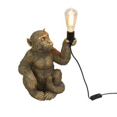 TABLE LAMP SITTING GOLDEN MONKEY