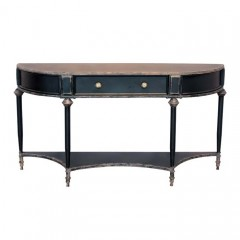 BLACK METAL CONSOL TABLE WITH DRAWER