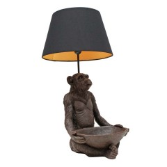 MONKEY LAMP TRAY AND SHADE