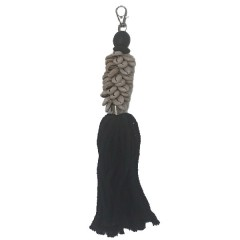 BLACK KEYHOLDER WITH SHELL