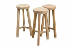 NATURAL RECYCLED BAR STOOL