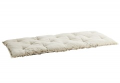 COTTON MATTRESS WITH FRINGES TAUPE
