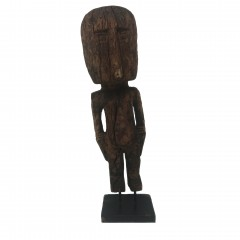 PRIMITIVE WOOD SKEW STATUE