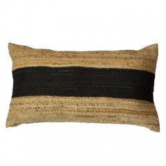 BLACK NATURAL JUTA CUSHION