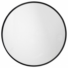 ROUND MIRROR IRON BLACK