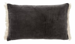 CUSHION COVER VELVET DARK GREY
