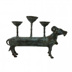 HOLY COW CANDLE HOLDER ANTIQUE BRONZE COLOR