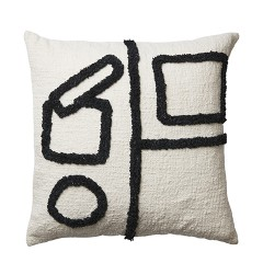 BLACK AND WHITE CUBE CUSHION COVER