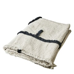 BLACK AND WHITE SIGNES BLANKET