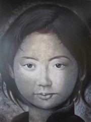 ASIAN GIRL GREY FACE
