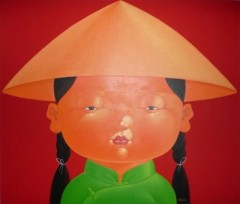 RICE HAT GIRL RED