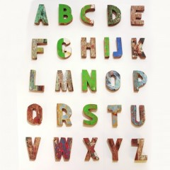 WOODEN LETTERS       - DECOR ITEMS