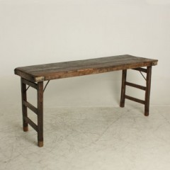 MARKET FOLDING CONSOLE TABLE BROWN