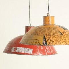 SCRAPMETAL ROUND LAMP LARGE